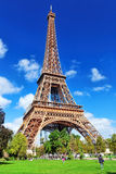Eiffel Tower -view from the Champs de Mars.Paris,France Royalty Free Stock Images