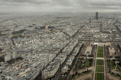 Eiffel Tower View East. A Look To the east from the Top of The Eiffel Tower royalty free stock photo