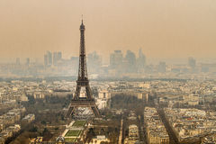 Eiffel Tower. View over Paris with its monument stock images