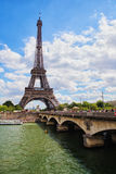 Eiffel Tower on Seine River, Paris, France Stock Image