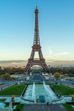Eiffel Tower. View at The The Eiffel Tower in Paris Stock Photos