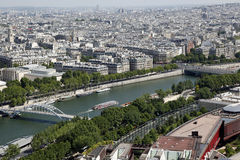 Eiffel Tower View, Paris, France. The Eiffel Tower (French: La Tour Eiffel, Eiffel. View of Paris from atop the Eiffel Tower Royalty Free Stock Image