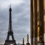 Eiffel Tower. View on the skyline in Paris near the Eiffel Tower Stock Photos