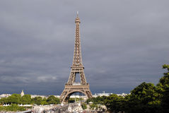 Eiffel tower- view from Tracadero Royalty Free Stock Image