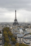Eiffel tower. View from triumphal arch Stock Photos