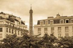 Eiffel Tower in vintage mode Stock Photo