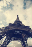 Eiffel tower - vintage photo Royalty Free Stock Photos