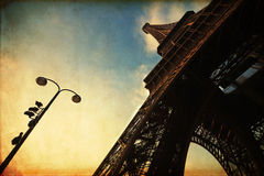 Eiffel Tower in vintage style Royalty Free Stock Photos