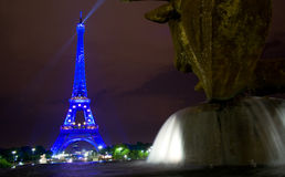 Eiffel Tower and Water Royalty Free Stock Photography