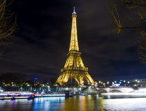 Eiffel tower by the water royalty free stock photography