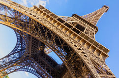 Eiffel tower wide Stock Photography