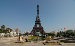 The Eiffel Tower in The window of the world park Stock Image