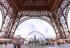Eiffel Tower in the winter day. Royalty Free Stock Photos
