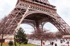 Eiffel Tower in the winter day. Stock Photos