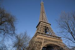 Eiffel Tower in Winter, Paris Stock Photo