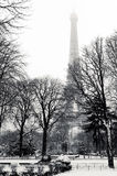 Eiffel tower in winter Royalty Free Stock Image