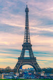 Eiffel tower at winter suset in Paris, France Royalty Free Stock Images