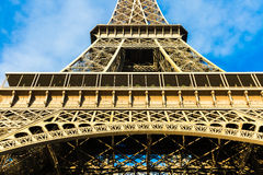 Eiffel Tower at winter time in Paris, France Royalty Free Stock Photos