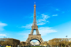 Eiffel Tower at winter time in Paris, France Royalty Free Stock Photography