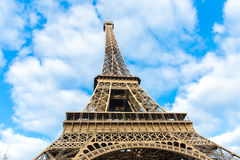 Eiffel Tower at winter time in Paris, France Royalty Free Stock Image