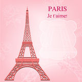 Eiffel Tower With Flowers Royalty Free Stock Photos