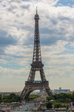 Eiffel Tower. The Eiffel Tower is a wrought iron lattice tower on the Champ de Mars in Paris, France. It is named after the engineer Gustave Eiffel, whose Royalty Free Stock Photo