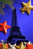 The Eiffel Tower for Xmas. Royalty Free Stock Images