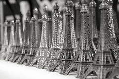 Eiffel towers miniature Stock Photo