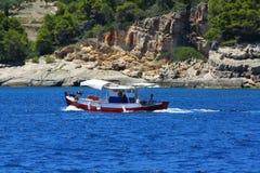 Eiffel TowSkiathos Island, Greece royalty free stock photos