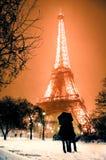 Eiffel, Turm der Liebe Stockfotografie