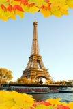 Eiffel turnerar i nedgången, Paris Fotografering för Bildbyråer