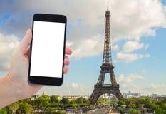 Eiffel turnerar och från Trocadero, Paris Arkivfoto