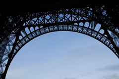 Eiffel Underside Stock Photos