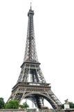 Eiffeltorn över vit bakgrund france paris Arkivbilder