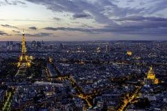 Eiffeltorn, Arc de Triomphe och Invalides. Paris. Royaltyfri Fotografi