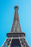 Eiffeltorn - den Paris Frankrike staden går loppforsen Royaltyfria Bilder