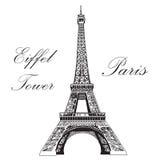 Eiffeltorn för illustration för vektorhandteckning Fotografering för Bildbyråer