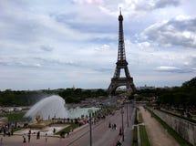 Eiffeltorn från den Chaillot slotten Arkivbild