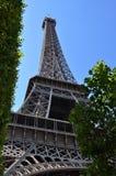 Eiffeltorn (la turnerar Eiffel), Paris, Frankrike Arkivfoto
