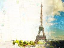Eiffeltorn- och Paris cityscape royaltyfria foton