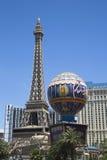 Eiffeltorn på det Paris hotellet och kasinot Arkivbilder