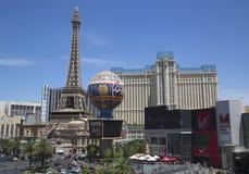 Eiffeltorn på det Paris hotellet och kasinot Royaltyfri Bild