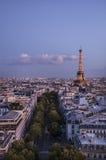 Eiffeltorn på solnedgången Royaltyfri Fotografi