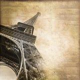 Eiffeltorn Paris, tappningstilkort Royaltyfria Foton