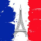 Eiffeltornillustration Royaltyfri Foto
