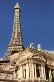 Eiffeltornkopia på det Paris hotellet och kasinot i Las Vegas Arkivfoton