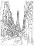 Eiffeltornsikt Royaltyfria Bilder