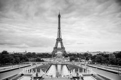 Eiffeltornsikt från stället du Trocadero Arkivbilder