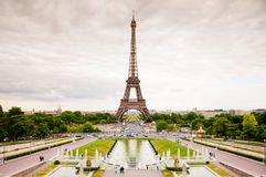 Eiffeltornsikt från stället du Trocadero Royaltyfria Bilder
