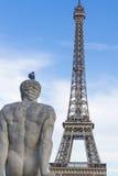 Eiffeltornsikt från Trocadero, ParÃs Royaltyfria Bilder